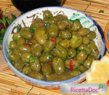 Ricetta Conserve Olive verdi schiacciate
