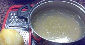 granita al limone aggiunta scorza