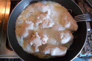 Involtini pollo cottura