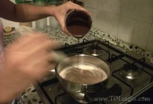 budino al cioccolato aggiunta latte