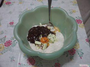 Biscotti cioccolato mandorle aggiunta tuorlo burro