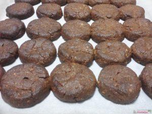 Biscotti cioccolato mandorle cotti