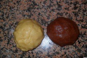 Biscotti bicolore impasti