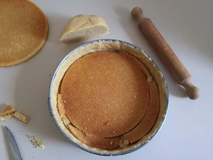 Torta ricotta e crema pasticcera