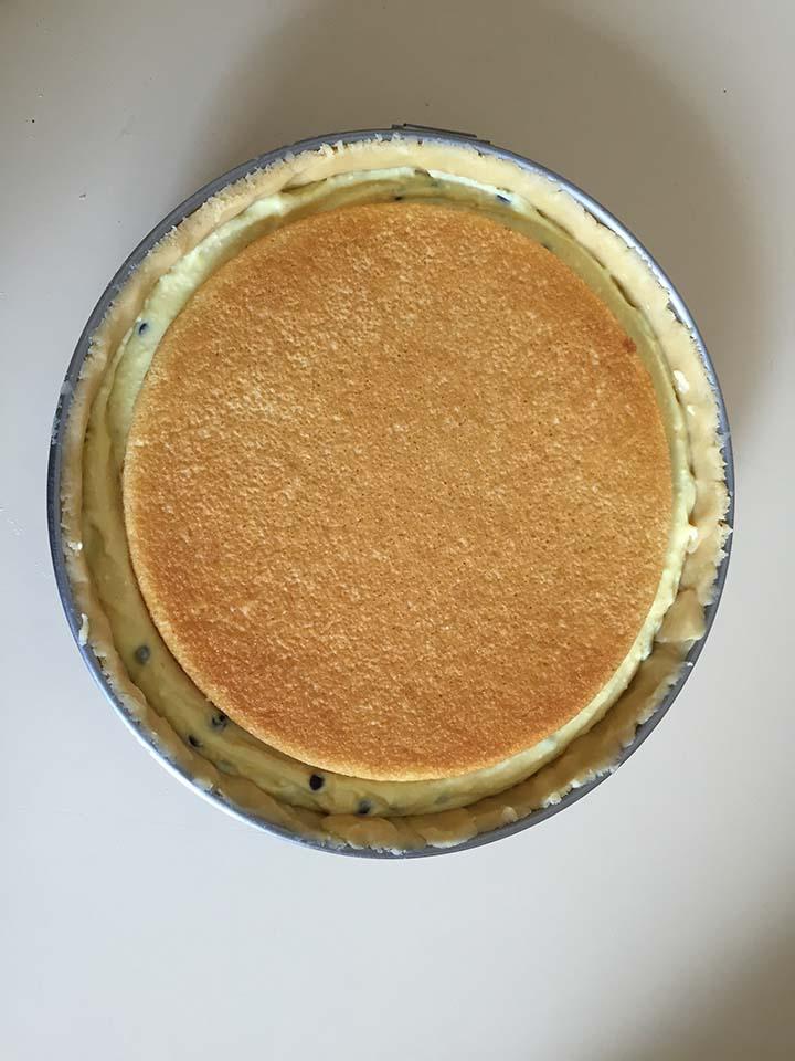 Torta con ricotta e crema pasticcera