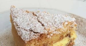 Torta con ricotta e crema gialla-23