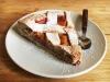 Crostata integrale con crema pasticcera e fragole