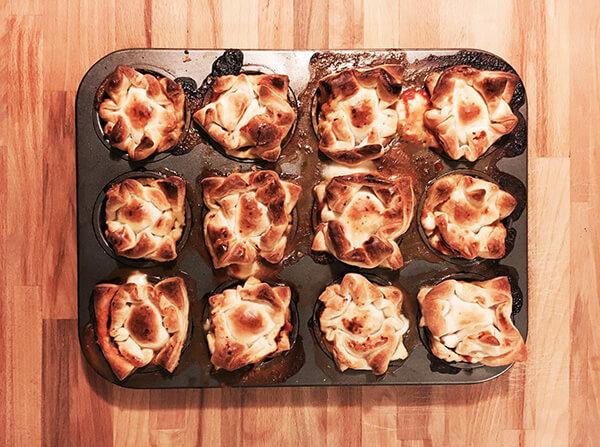 Muffin di sfoglia salati